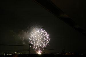 京都競馬場の花火
